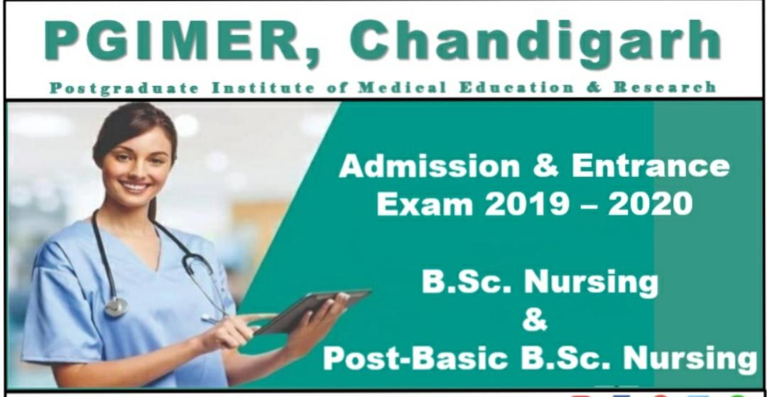 B Sc Nursing and Post Basic Entrance exam of PGIMER Chandigarh 2019