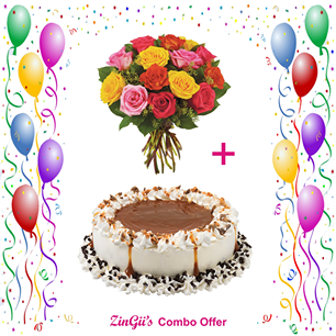 Gifts Delivery Coimbatore Anniversary Midnight Bouquet Flower Best Birthday Cake