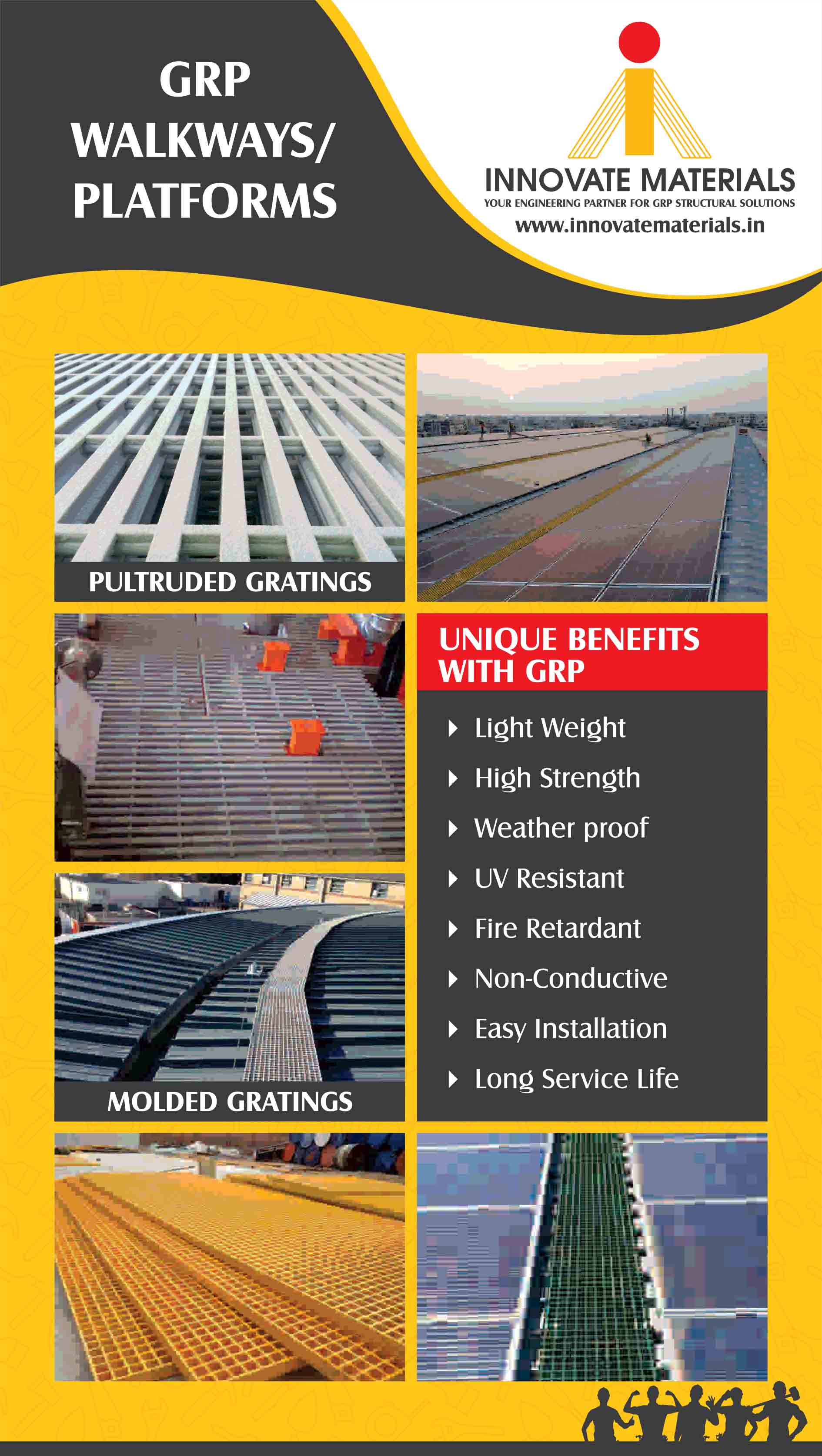 FRP ROOFTOP WALKWAYS , Mobile No :824 782 3212 by: VVR